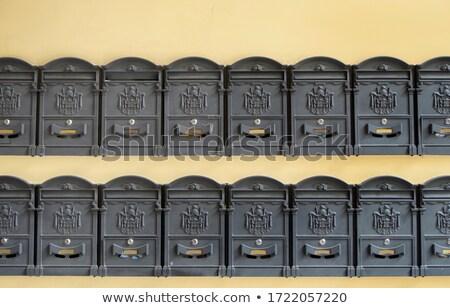 eski · eski · posta · kutusu · duvar · kahverengi · iletişim - stok fotoğraf © bubutu