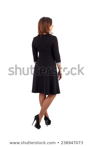Back view image of young attractive fitness woman Stock photo © deandrobot