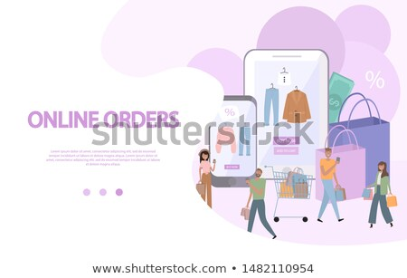 couple talking about buying product stock photo © deandrobot