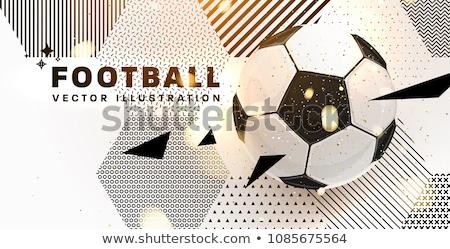 Creativo torneo di calcio sport modello di progettazione luce calcio Foto d'archivio © SArts