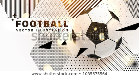 creative soccer tournament sports background design template Stock photo © SArts