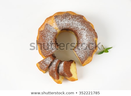 szeletek · márvány · torta · kettő · fehér · étel - stock fotó © Digifoodstock