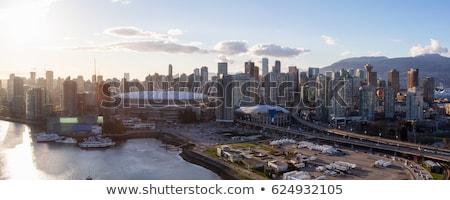 Gün batımı üzerinde gece şehir panoramik sahne Stok fotoğraf © vapi