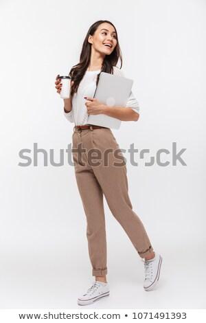fiatal · délkelet · ázsiai · igazgató · áll · iroda - stock fotó © szefei