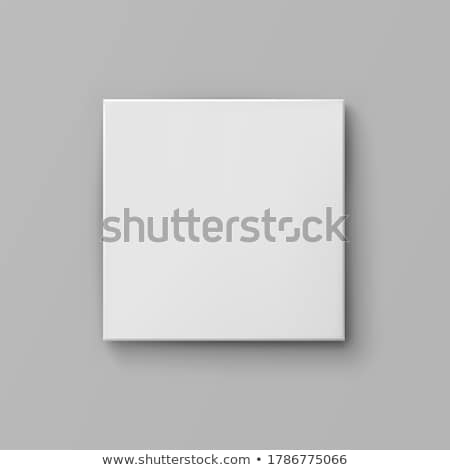 empty wall canvas display mockup vector stock photo © SArts