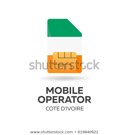 cote divoire mobile operator sim card with flag vector illustration stock photo © leo_edition
