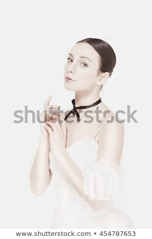 romantikus · szépség · retró · stílus · portré · kettő · nő - stock fotó © master1305