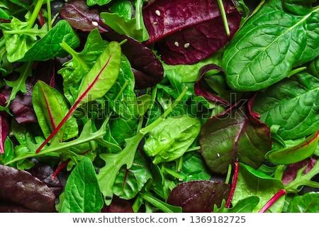Stockfoto: Groene · plantaardige · kom · tabel · wijn