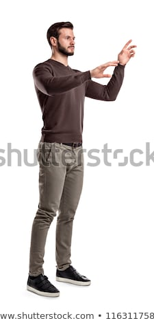 Homem invisível virtual tela branco Foto stock © wavebreak_media