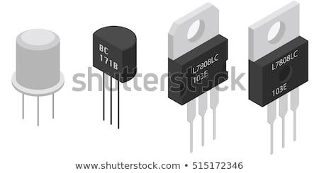 conjunto · diferente · 3D · eletrônico · componentes · ativo - foto stock © kup1984
