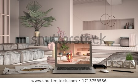 apartments closeup of keyboard 3d illustration stock photo © tashatuvango
