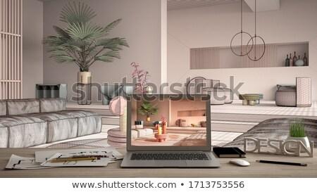 Apartments CloseUp of Keyboard. 3D Illustration. Stock photo © tashatuvango