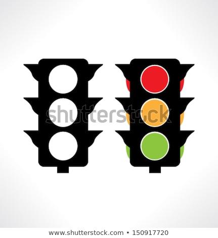 Icono silueta semáforo lineal estilo luz Foto stock © Olena