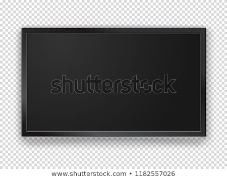screen lcd plasma vector isolated on checkered background stock photo © pikepicture