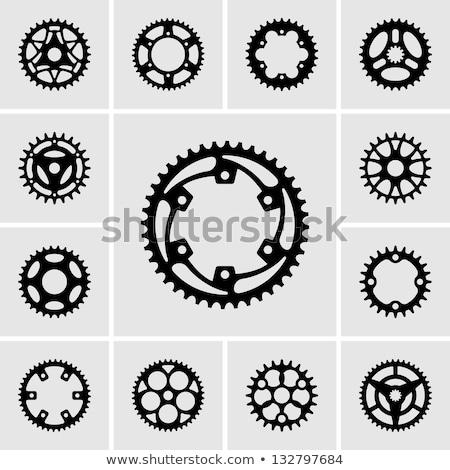 bicikli · fogaskerekek · elöl · hátsó · tipikus · acél - stock fotó © snowcoyote