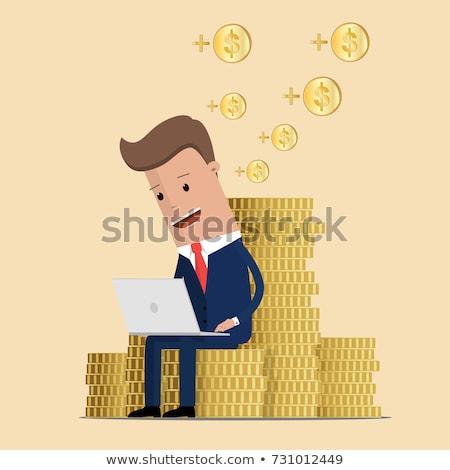dólar · moeda · de · ouro · isolado · branco · negócio · metal - foto stock © rastudio