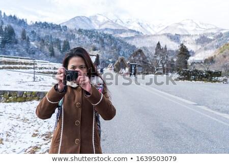panorama · śniegu · górskich · krajobraz · alpy · Błękitne · niebo - zdjęcia stock © stevanovicigor
