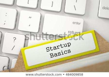 file card with inscription entrepreneurs 3d stock photo © tashatuvango