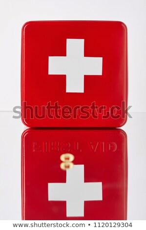 красный медицинской капсулы зеркало поверхность фотография Сток-фото © Traimak