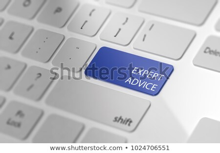 Blue Consultancy Services Button on Keyboard. 3D. Stock photo © tashatuvango