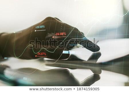 Hand Finger Press Bonds Keypad. Stock photo © tashatuvango