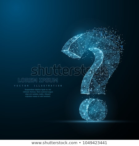 Сток-фото: Question Mark Looking For Answers