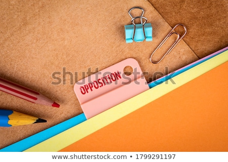 Competitors Concept on Folder Register. Stock photo © tashatuvango