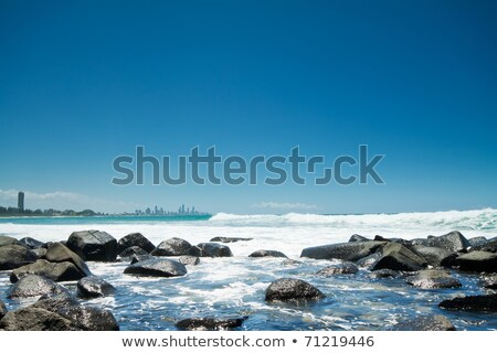 Stock photo: Burleigh Heads beach during the day.