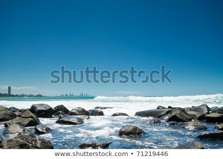 Burleigh Heads beach during the day. stock photo © artistrobd