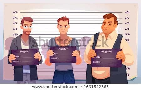 Prisioneiro polícia parede escala silhueta Foto stock © romvo