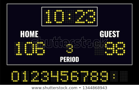 hockey sports digital scoreboard vector illustration Stock photo © konturvid