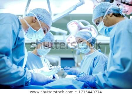 Arts permanente operatiekamer vrouw medische ziekenhuis Stockfoto © IS2