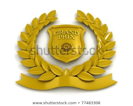 Dorado estrellas escudo formas campeonato Foto stock © studioworkstock