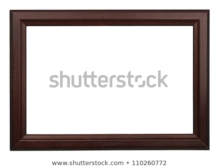 Retro photo frame isolated on red wood texture background Stock photo © sidmay