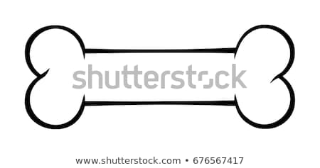 Black And White Outlined Dog Bone Cartoon Drawing Simple Design Stock photo © hittoon