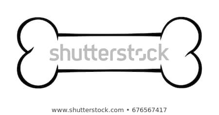 Feketefehér kutyacsont rajz rajz egyszerű terv Stock fotó © hittoon