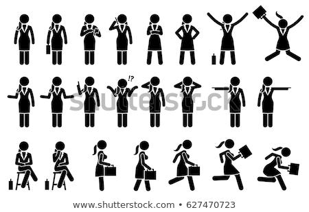 smartphone stick figures stock photo © blamb