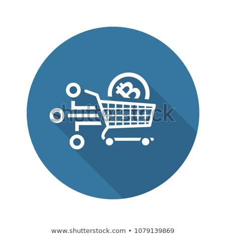 cesta · de · la · compra · moneda · blanco · negocios · metal · compras - foto stock © wad