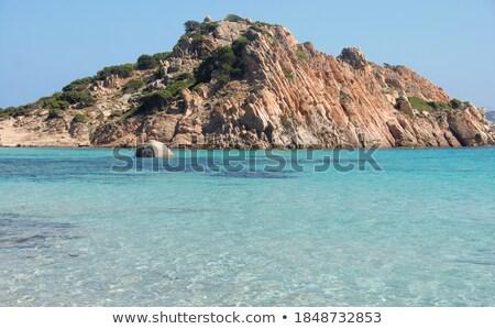 пляж · острове · панорамный · бирюзовый · воды · природы - Сток-фото © compuinfoto