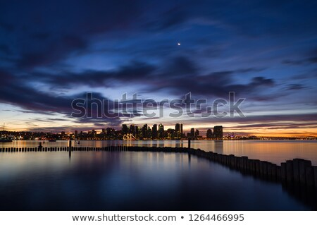 San · Diego · Californie · Skyline · nuit · eau · ville - photo stock © backyardproductions