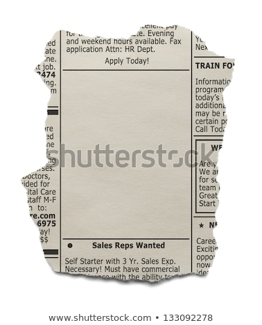 Job ad in a newspaper - We are hiring Stock photo © Zerbor