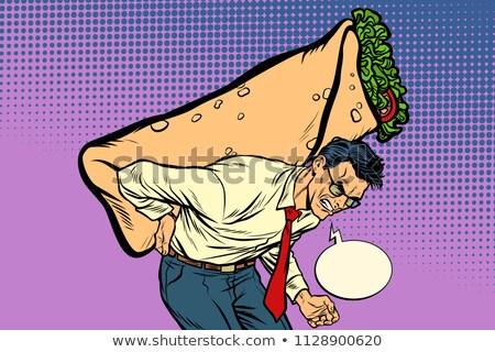 man carries Shawarma Doner kebab Stock photo © studiostoks