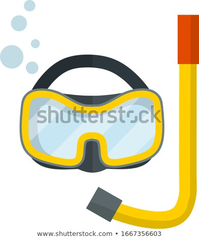 A scuba diver on white background Stock photo © bluering
