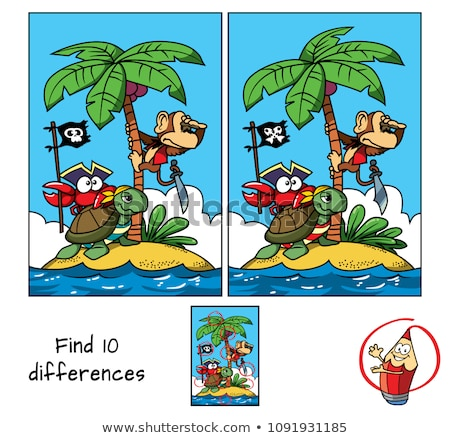differences game with animal characters stock photo © izakowski