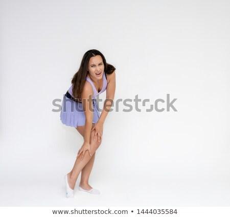 Mooie fitness vrouw runner schouderpijn jonge opleiding Stockfoto © boggy