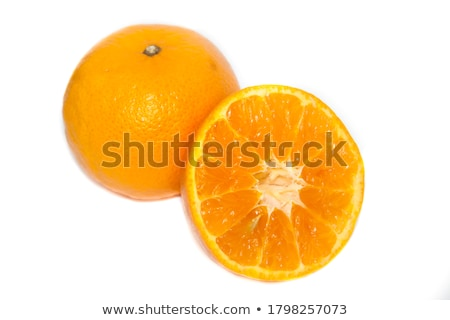 frescos · naranja · aislado · blanco · hoja · frutas - foto stock © ungpaoman
