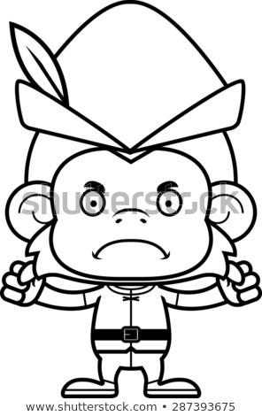 Cartoon Angry Robin Hood Monkey Stock photo © cthoman