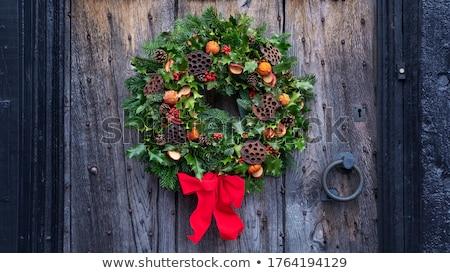 自然 冬 花輪 花輪 クリスマス ヒマラヤスギ ストックフォト © marilyna