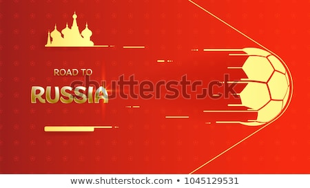 Rusya futbol top poster fincan başlık Stok fotoğraf © robuart