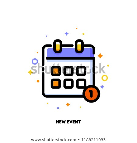 Icon of calendar for new event concept. Flat filled outline stock photo © ussr